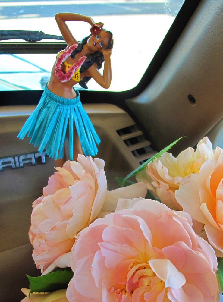 Hula Girl with Roses