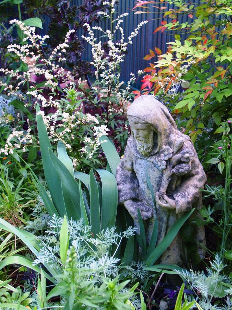 St. Fiacre in Felder's garden