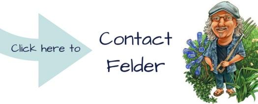 Contact Felder Rushing graphic with Felder cartoon