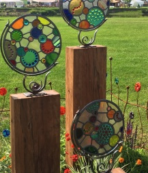 Glass Sculptures for Sale at RHS Chatsworth Flower Show