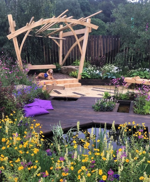 The Best Show Garden award went to the one named The Great Outdoors