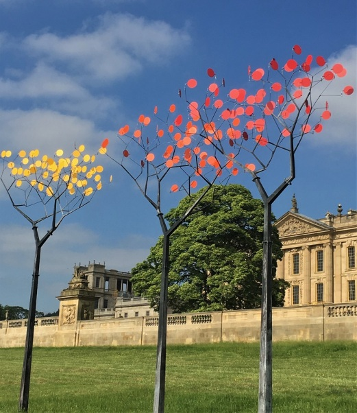 Whimsical Glass Trees at Chatsworth, England