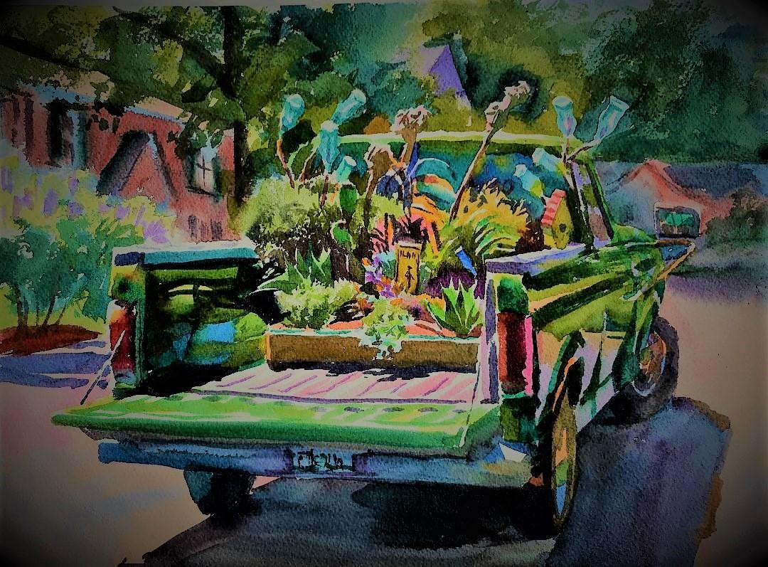 wyatt waters truck painting