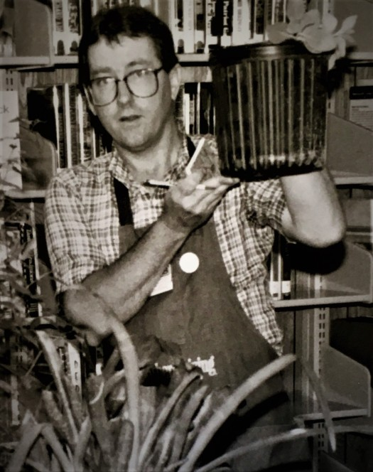 Felder at the first Flora Plant Swap, 1990
