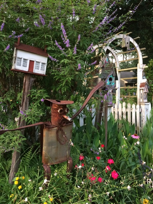 A Maverick Gardener's accessorized garden entrance